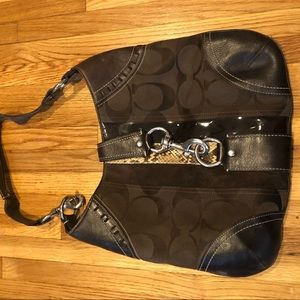 Coach Signature Canvas brown purse